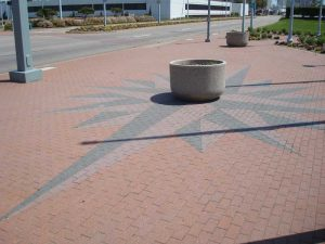 creative sidewalk design virginia
